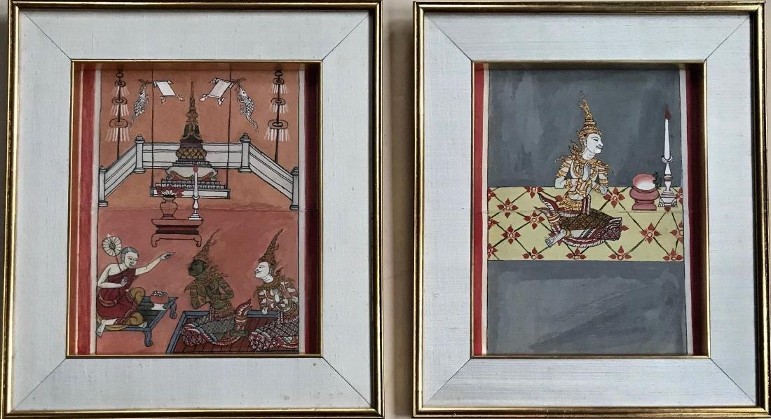 Phra Malai Manuscript Paintings W/ Script