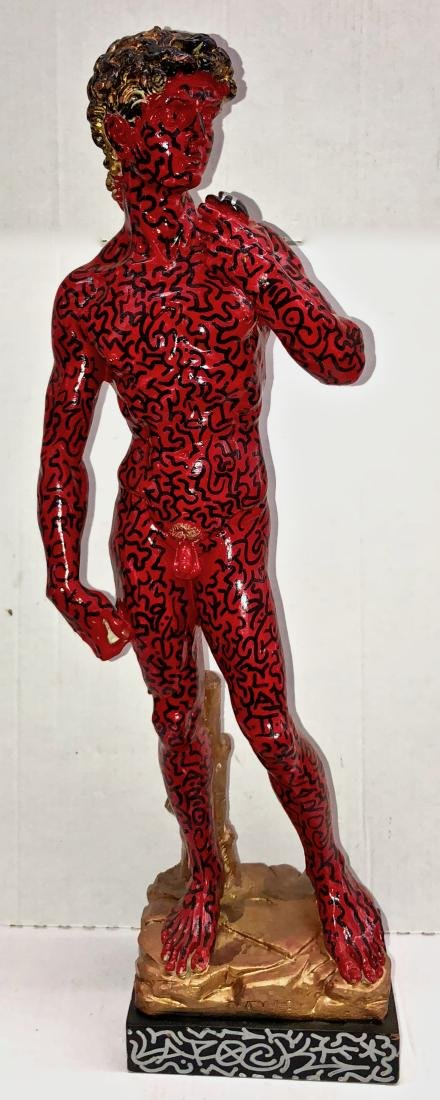 LA II (Angel Ortiz) Graffiti Painted Sculpture LA ROCK