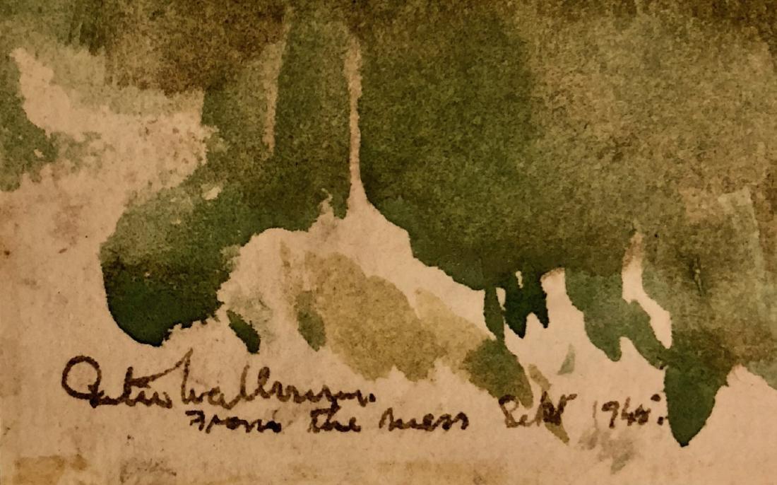 Two European Watercolor Landscape Views Signed - 3