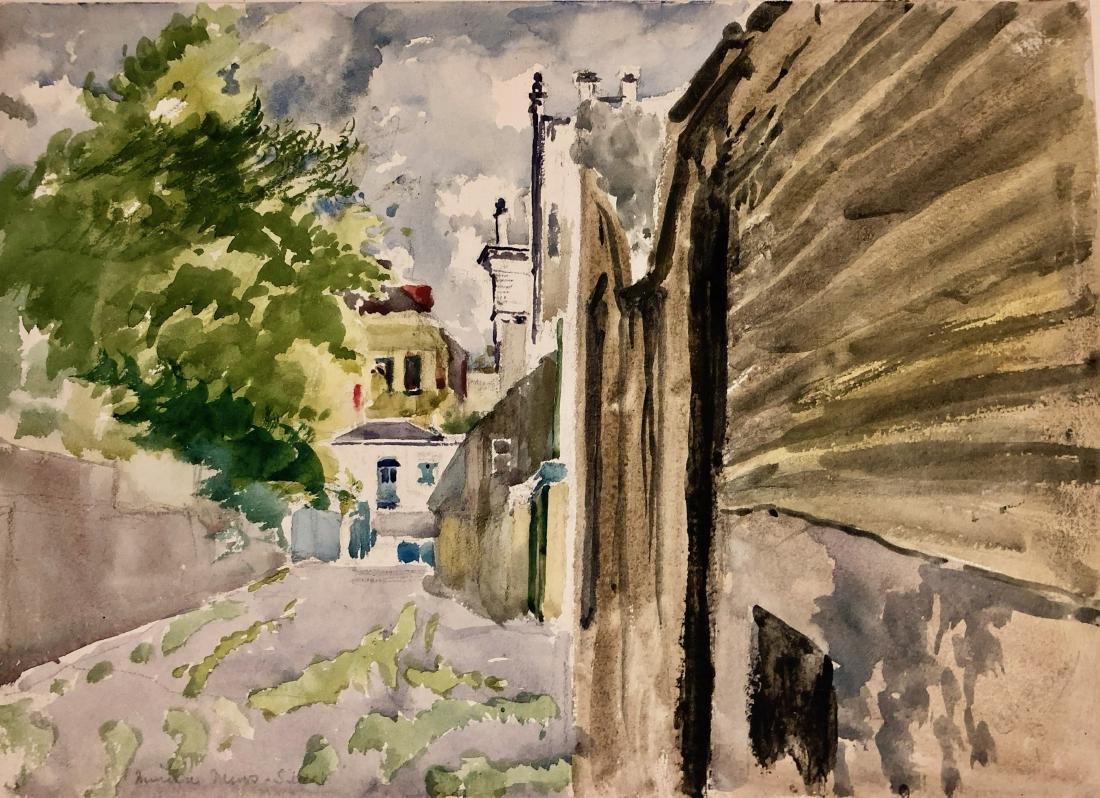 Two European Watercolor Landscape Views Signed - 4