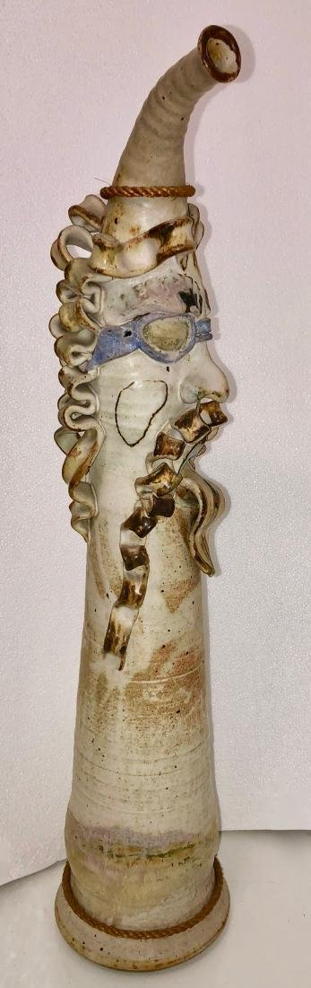American Abstract Figural Studio Pottery Vase 32.5in H. - 5