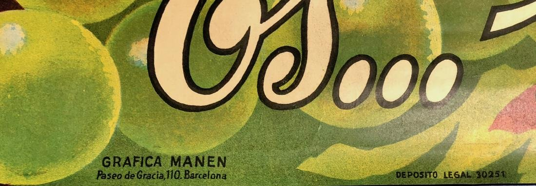 Rovellats Gran Cava Original Liquor Poster 1955 - 2