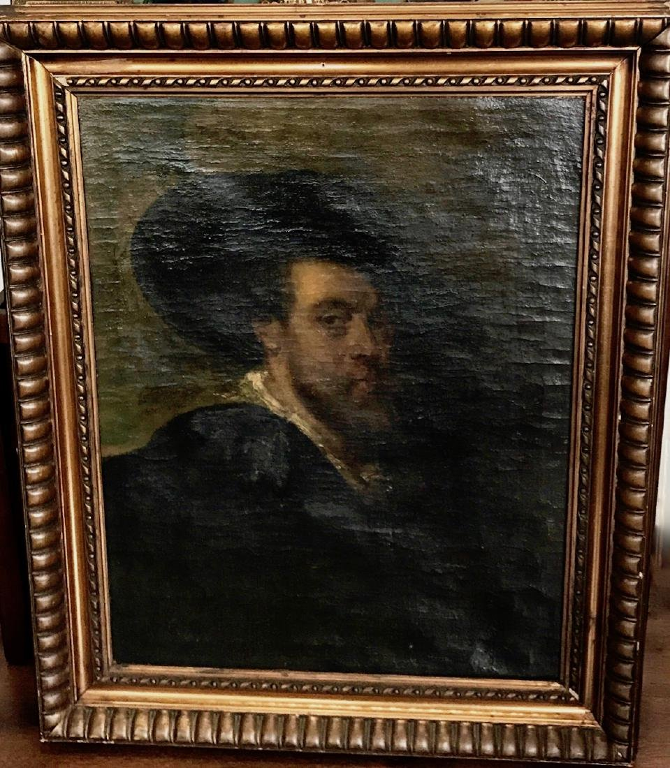 19th C. Oil Painting SELF PORTRAIT Peter Paul Rubens