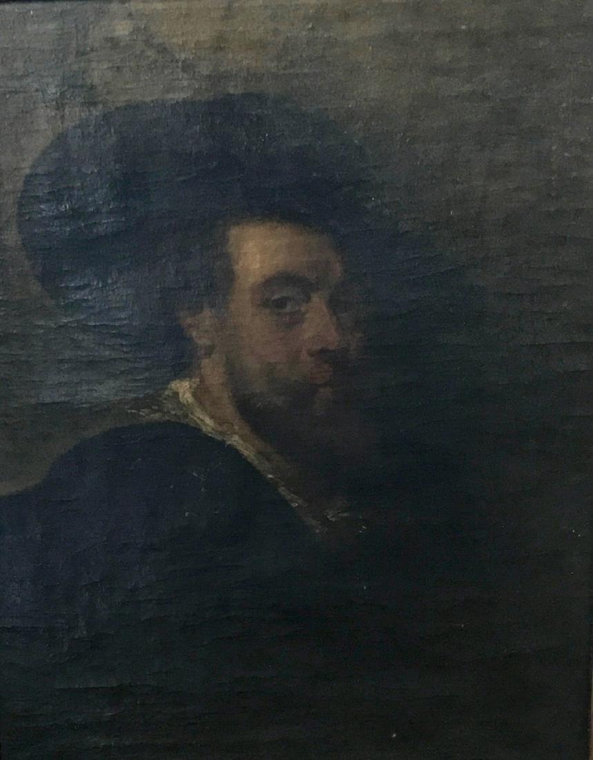 19th C. Oil Painting SELF PORTRAIT Peter Paul Rubens - 2