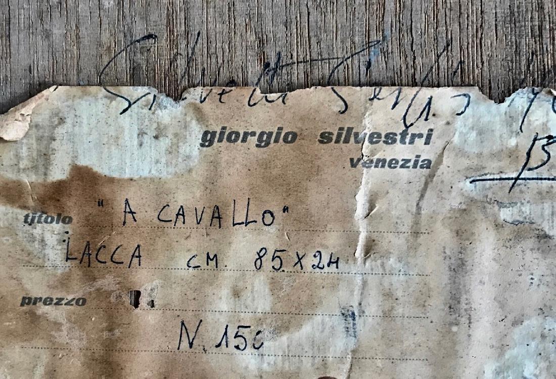 Mid-Century Enamel On Panel Painting, Silvestri 1963 - 3