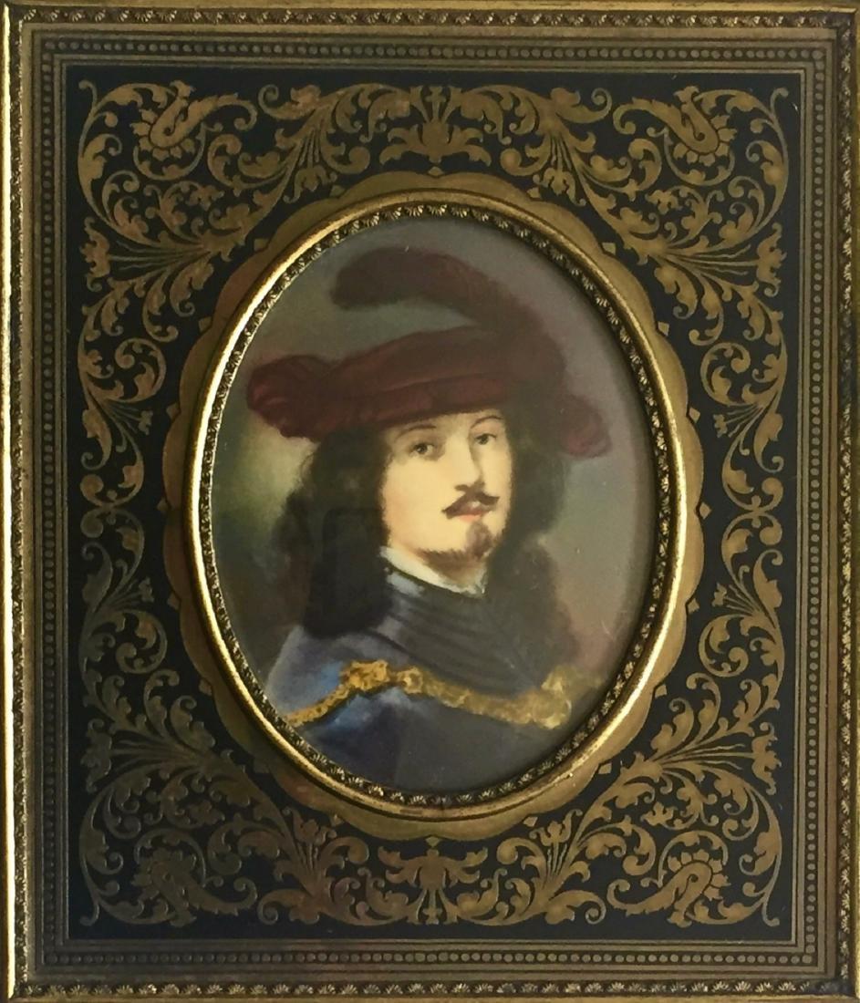 Grand Tour Miniature Painting Rembrandt Van Rijn