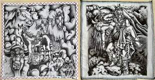 Southwestern Fantasy Animal Warrior Drawings E Jose