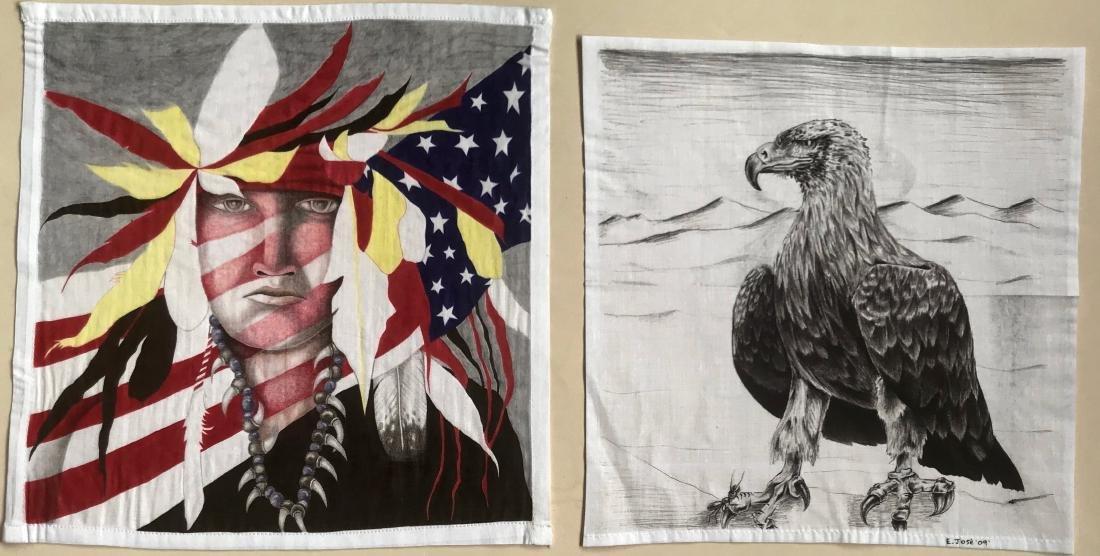 Southwestern Paintings Native American & Eagle, E. Jose