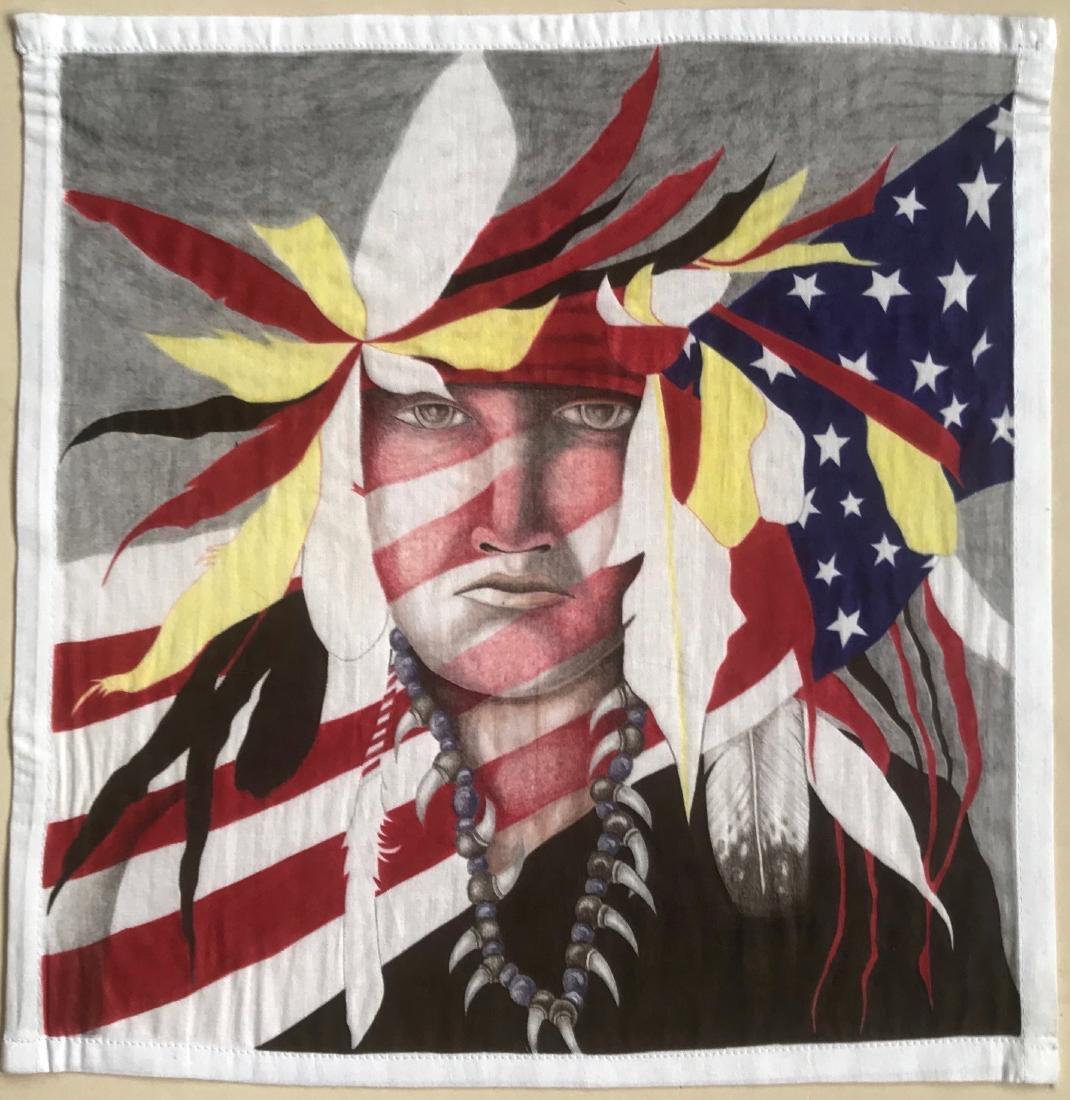 Southwestern Paintings Native American & Eagle, E. Jose - 2