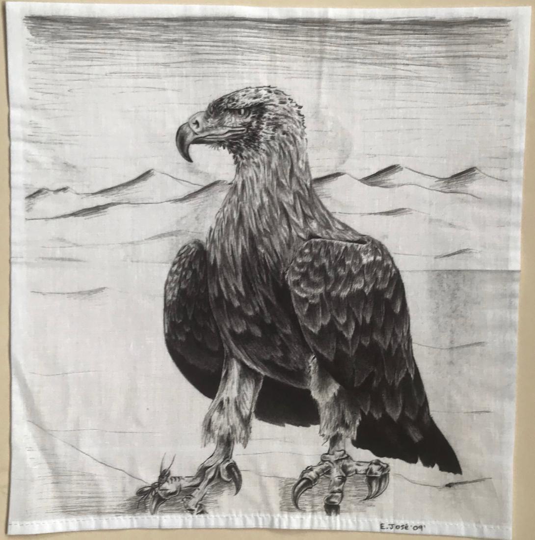 Southwestern Paintings Native American & Eagle, E. Jose - 4