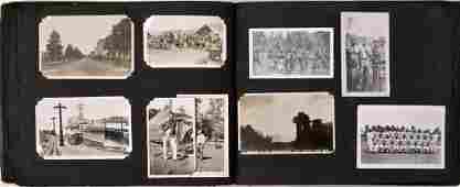 American Military Photograph & Postcard Album (240+)