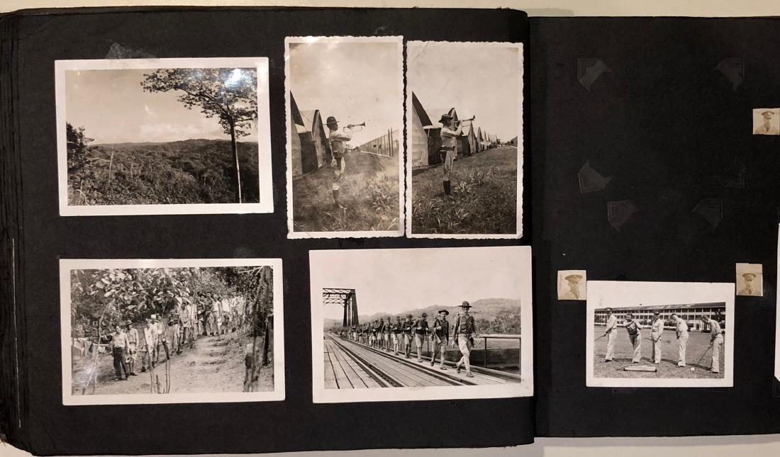 American Military Photograph & Postcard Album (240+) - 9