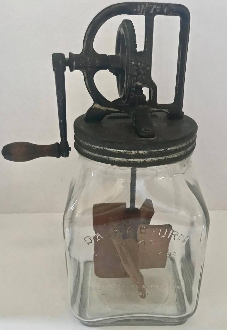 Vintage Dazey 1922 Patent Dated Butter Churn #40