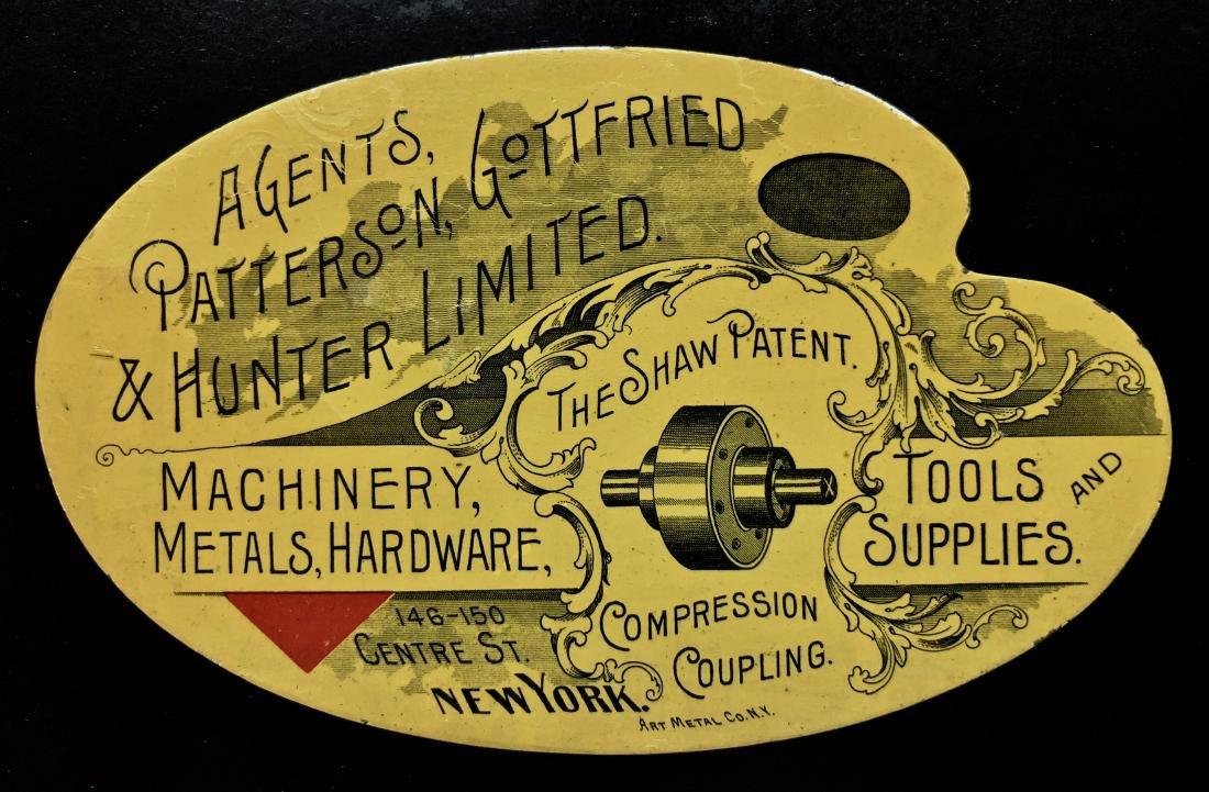 New York Industrial Advertisement Metal Sign 1890-1910