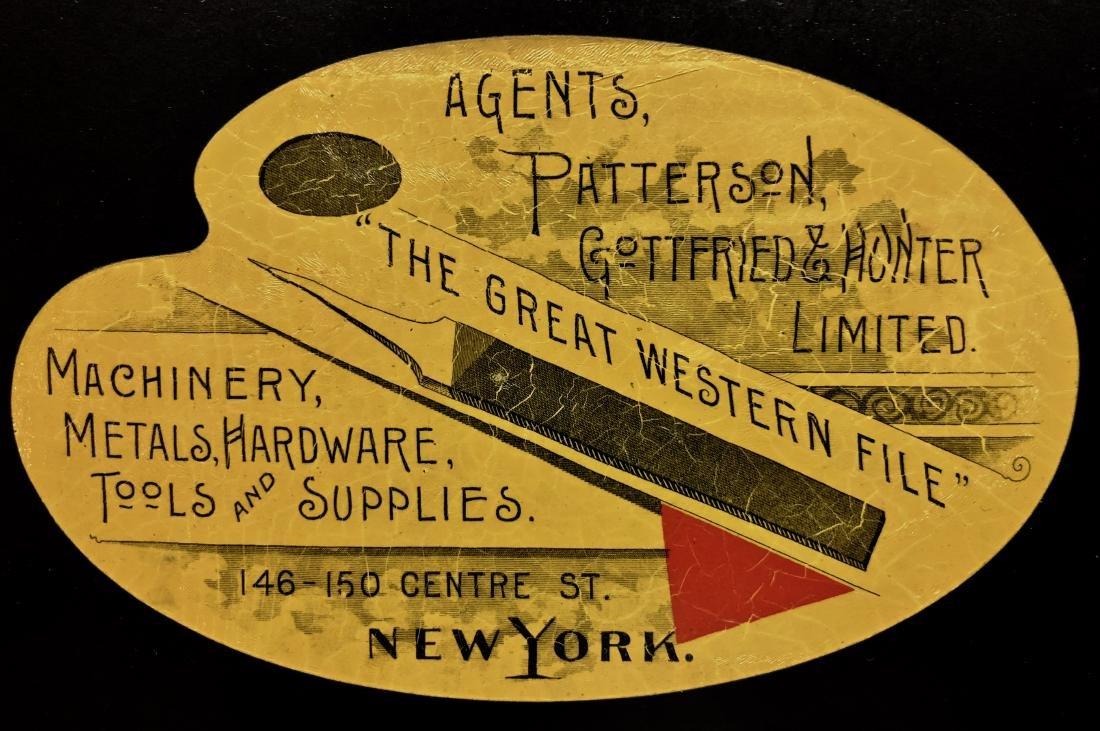 New York Industrial Advertisement Metal Sign 1890-1910 - 2