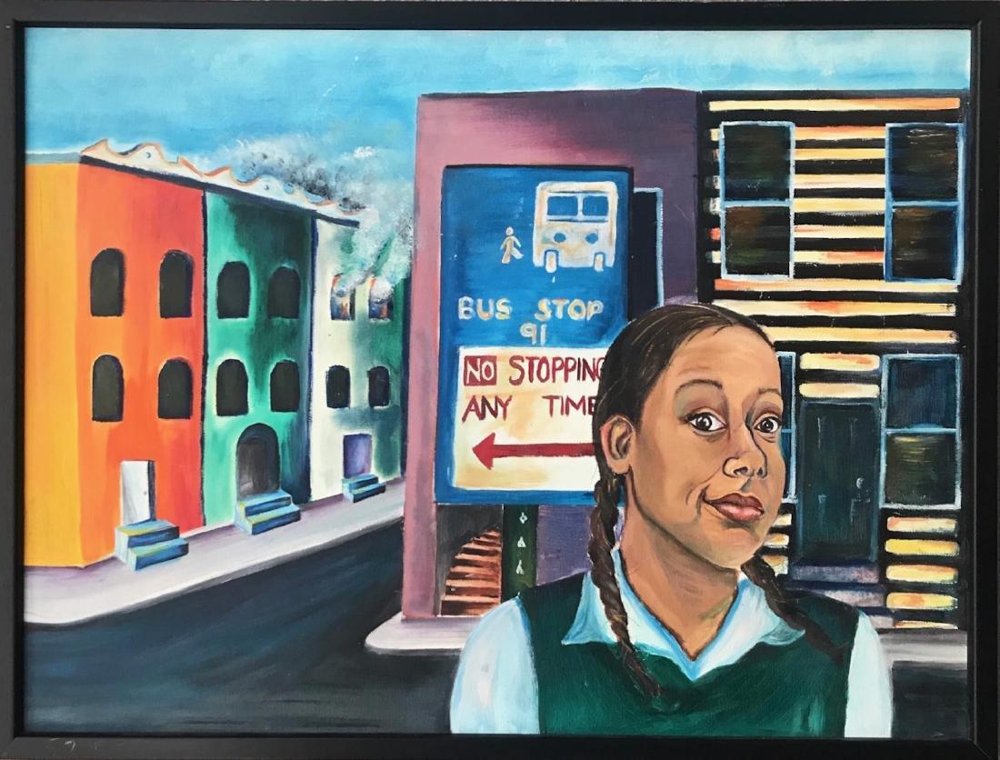 African-American Urban Street Painting 1960s