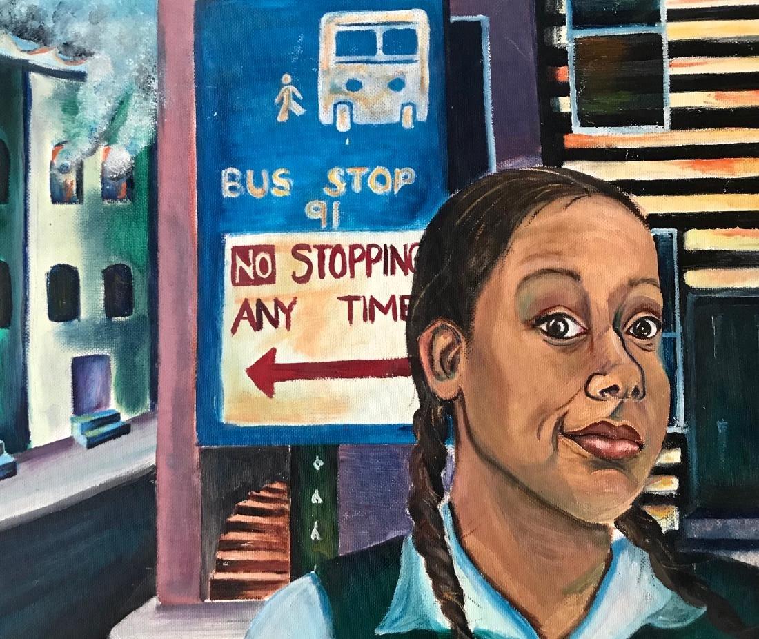 African-American Urban Street Painting 1960s - 2