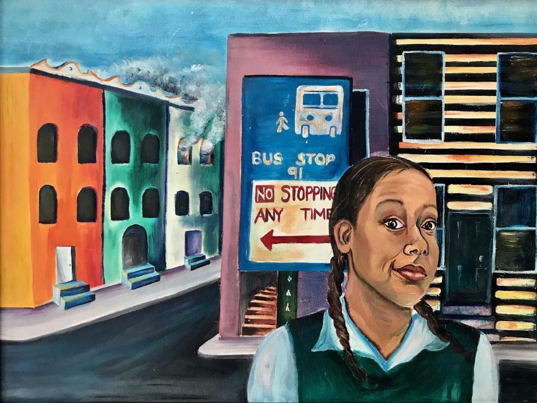 African-American Urban Street Painting 1960s - 3