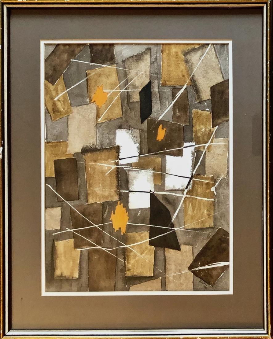 American Abstract Painting Thomas Rickis 1973