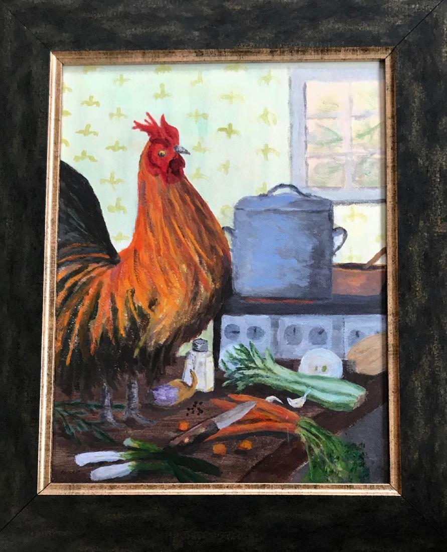 American Rooster Painting, Tom Bolger