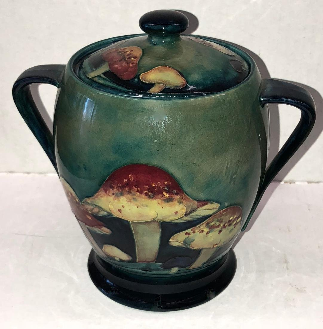 Moorcroft Claremont Pattern Jar With Toadstool Design