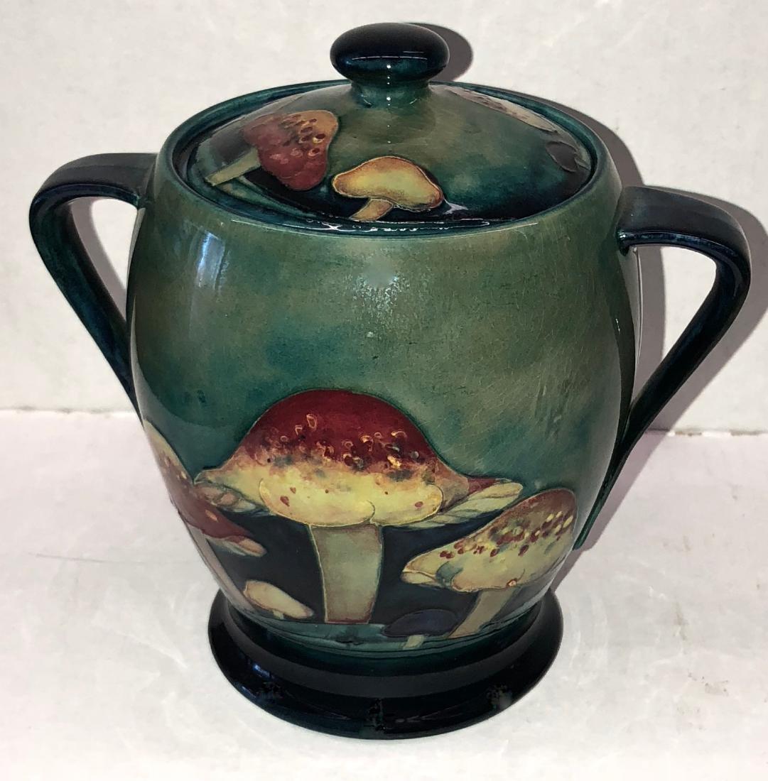 Moorcroft Claremont Pattern Jar With Toadstool Design