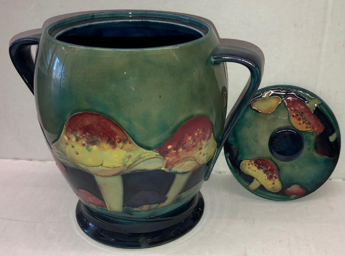 Moorcroft Claremont Pattern Jar With Toadstool Design - 5