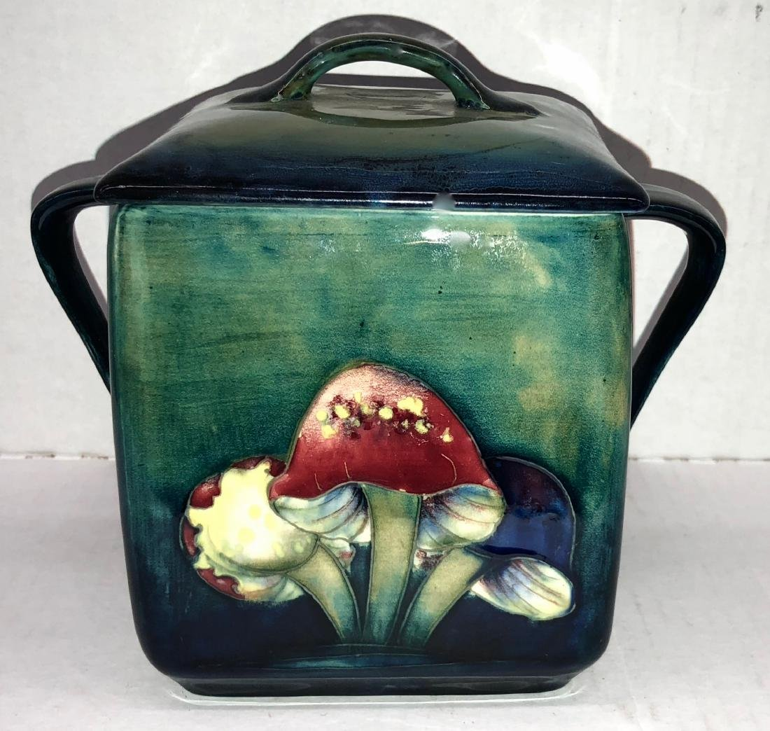 Moorcroft Claremont Toadstool Covered Twin Handled Box