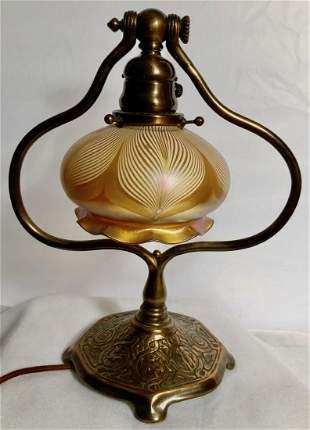 Tiffany Studios Zodiac Table Lamp With Quezal Shade