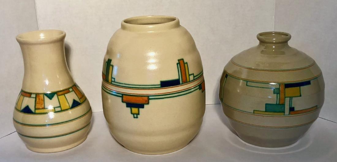 Velsen Holland Dutch Art Pottery Blokjes Vase 1930s (3)