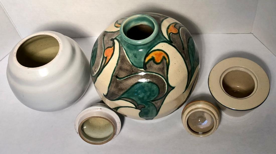 Three Dutch Studio Art Pottery Vases, Holland 1930s - 3