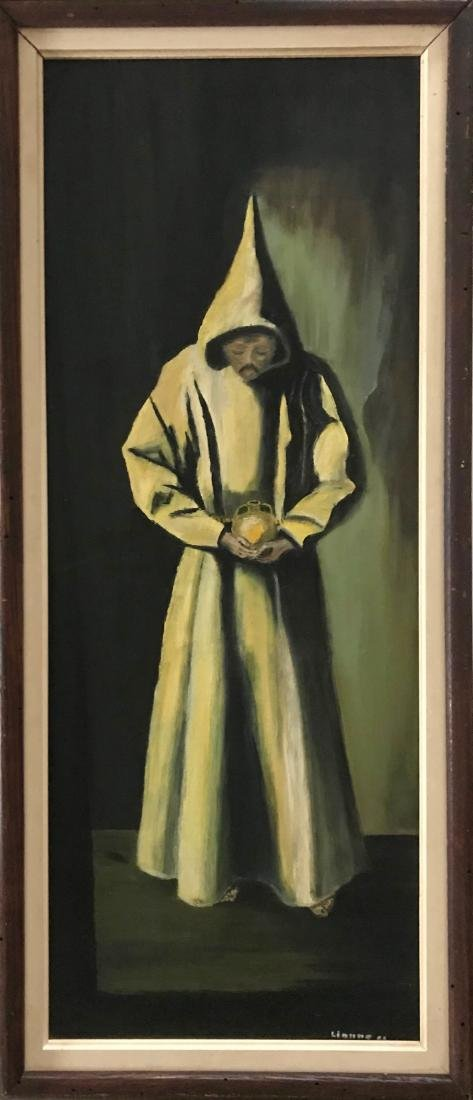 Monastery Monk Oil Painting, Lianne '63