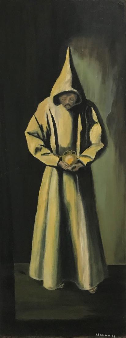 Monastery Monk Oil Painting, Lianne '63 - 3