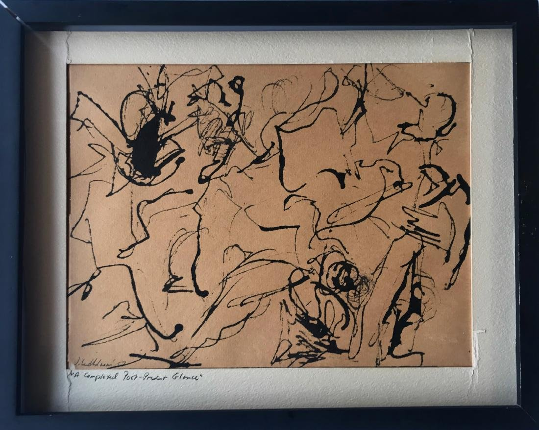 N.Y. School Abstract Drawing, Judith Lindbloom 1957