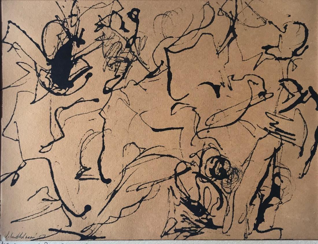 N.Y. School Abstract Drawing, Judith Lindbloom 1957 - 3