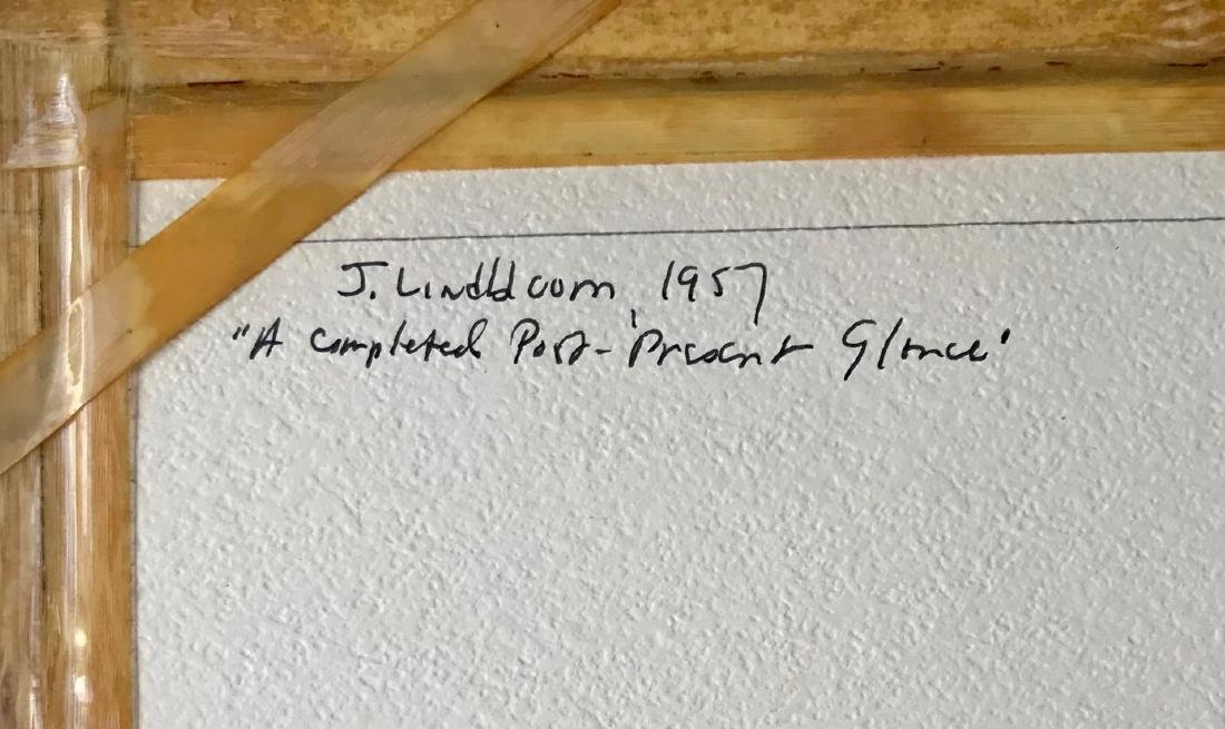 N.Y. School Abstract Drawing, Judith Lindbloom 1957 - 4