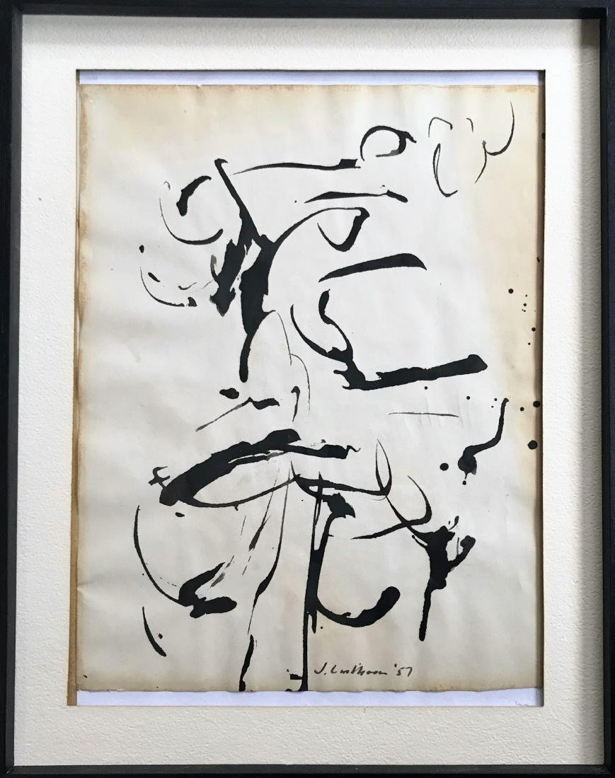 Judith Lindbloom Abstract Expressionist Drawing 1957