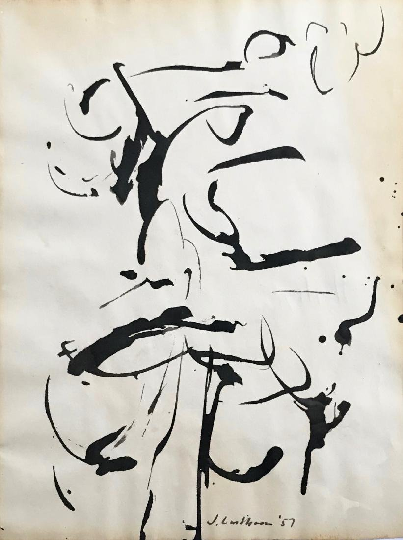 Judith Lindbloom Abstract Expressionist Drawing 1957 - 3