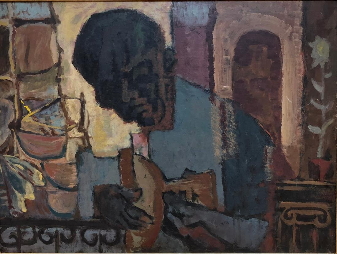 Cubist Abstract Painting African American Guitarist - 4