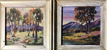 Hudson Valley Landscape Paintings George Seidman 1950s