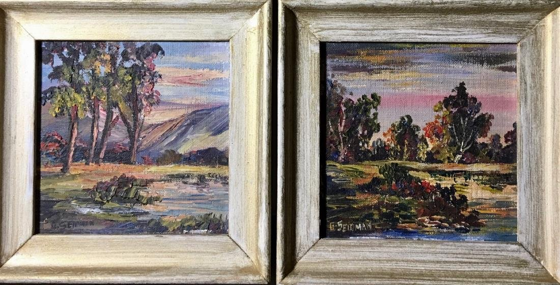 George Seidman (American,1898-1973) Landscape Paintings
