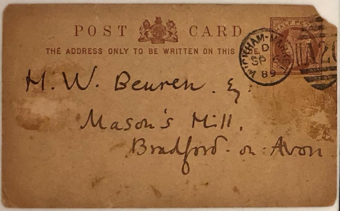 Walter Crane Handwritten Correspondence 1889 - 2