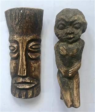 African Carved Lega Bone Ancestral Fetishes 2
