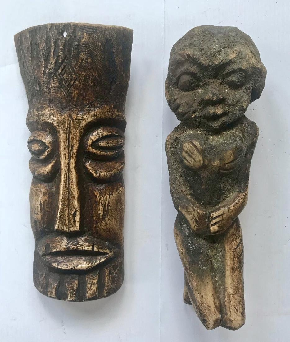 African Carved Lega Bone Ancestral Fetishes (2)