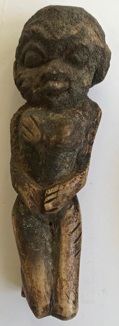 African Carved Lega Bone Ancestral Fetishes (2) - 4