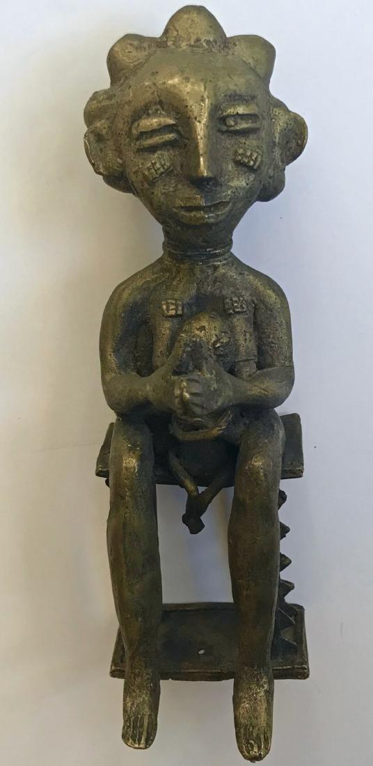 African Bronze Ancestor Fertility Sculpture