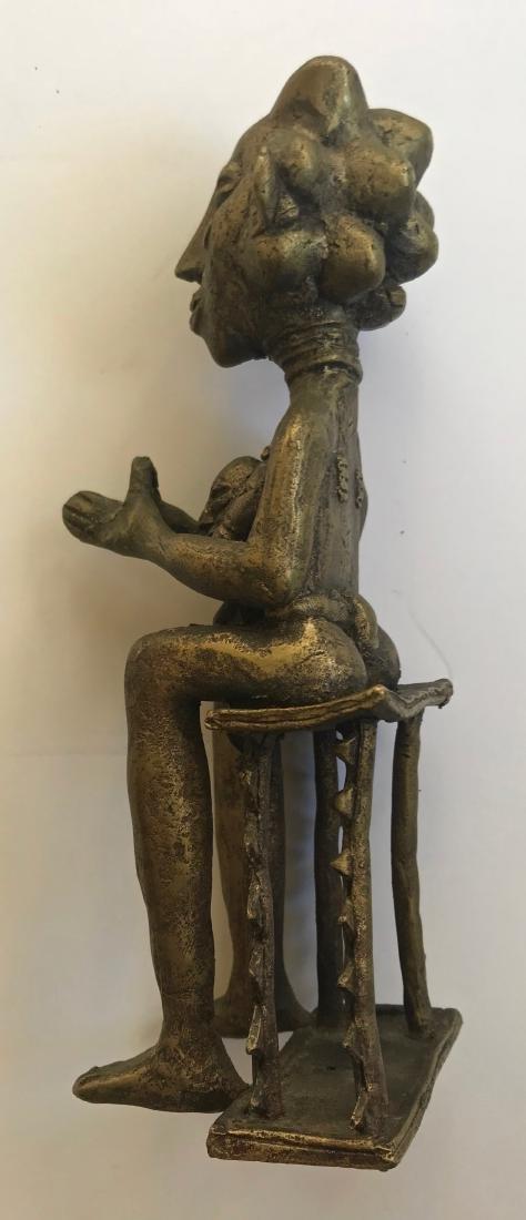 African Bronze Ancestor Fertility Sculpture - 2