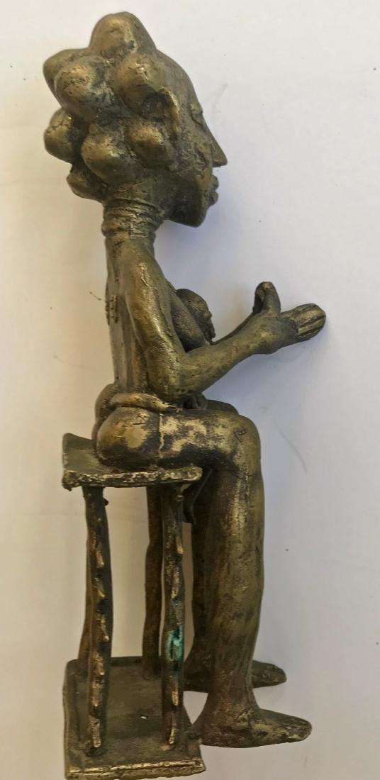 African Bronze Ancestor Fertility Sculpture - 3
