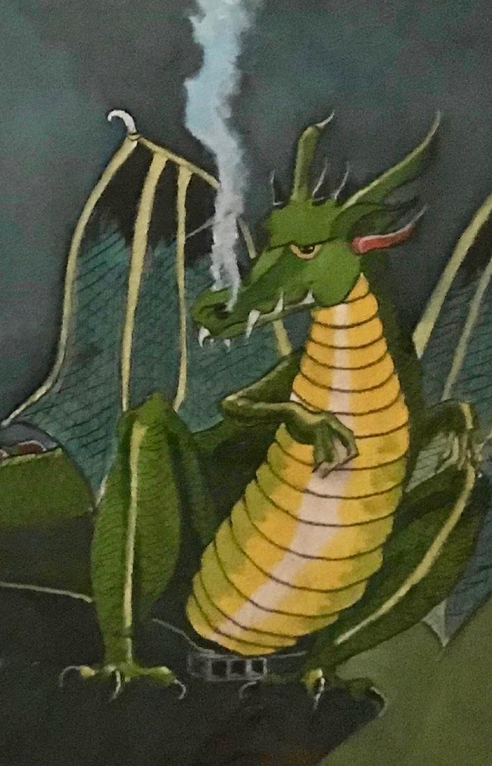 Illustration Painting, Fire Breathing Dragon, Streeter - 3