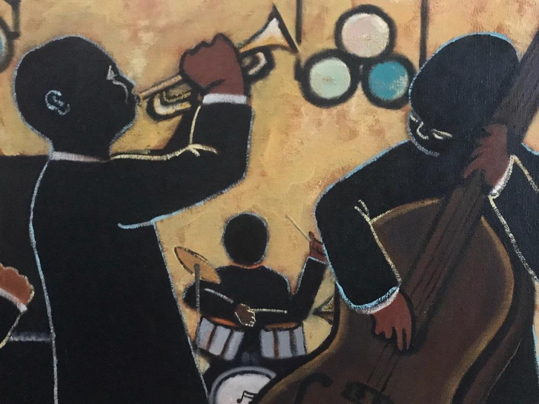 African American JAZZ BAND Club Painting, E.J. - 3